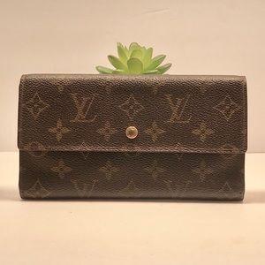Authentic Louis Vuitton Sarah TriFold Mono Wallet